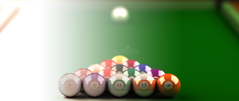 Biliard table royalty free illustration