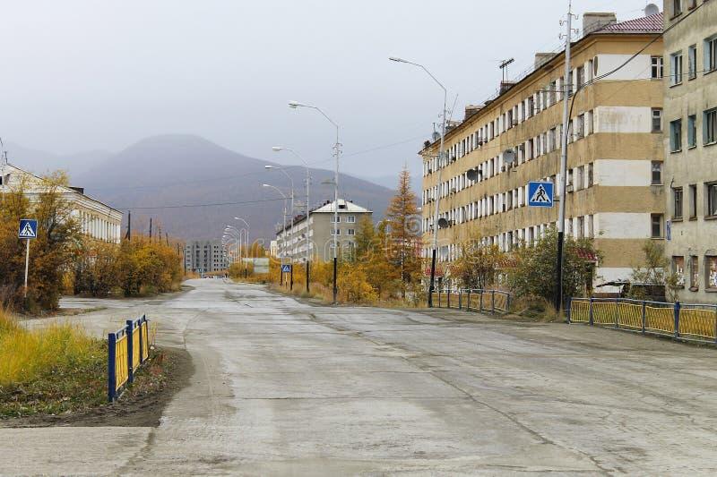Bilibino city, Chukotka, Northern region of Russia royalty free stock photo