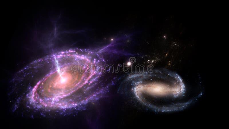 Biliions das galáxias fotos de stock royalty free