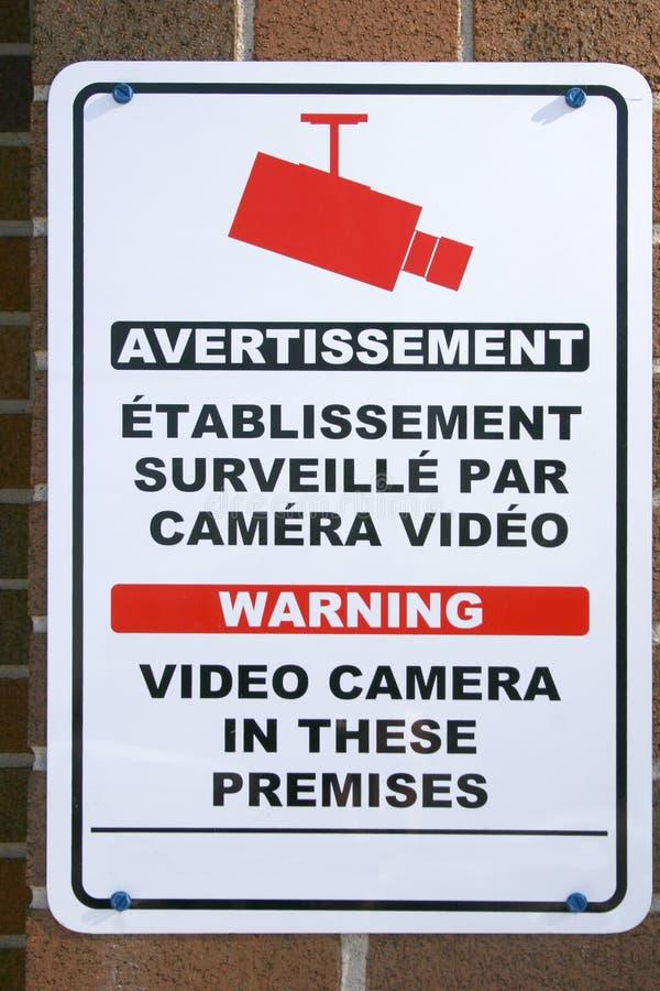 Bilingual Sign Free Stock Image