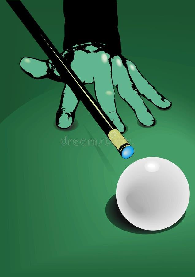 biljart en witte bal   stock illustratie