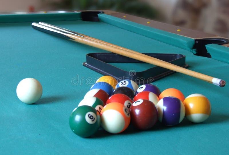 Biljart table_3 royalty-vrije stock afbeelding