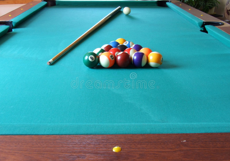Biljart table_4 stock afbeeldingen