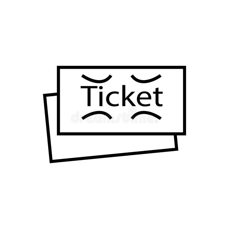 Biljett teater Illustrationvektorsymbol vektor illustrationer