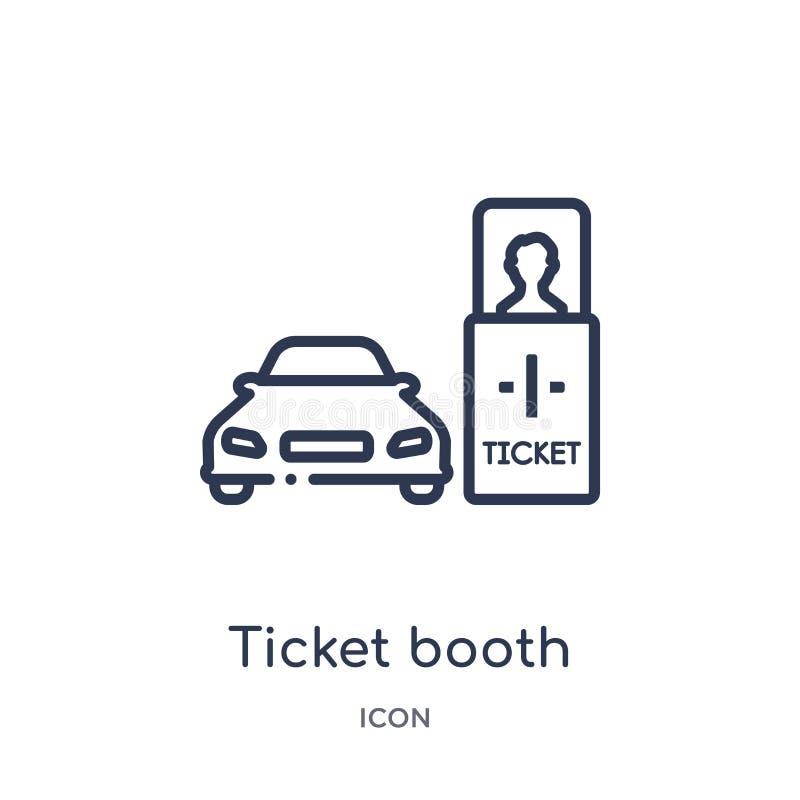 biljettbås med den arga symbolen från transportaytan översiktssamling Tunn linje biljettbås med den arga symbolen som isoleras på royaltyfri illustrationer