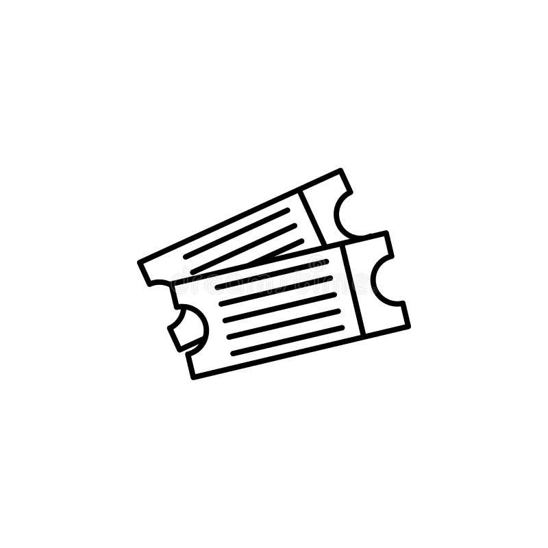 biljetter till biosymbolen Beståndsdel av den videopd produktöversiktssymbolen för mobila begrepps- och rengöringsdukapps Tunn li stock illustrationer
