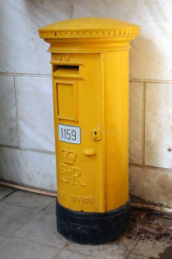 Download Biljettkontorstolpe arkivfoto. Bild av yellow, stort, stämpel - 285342