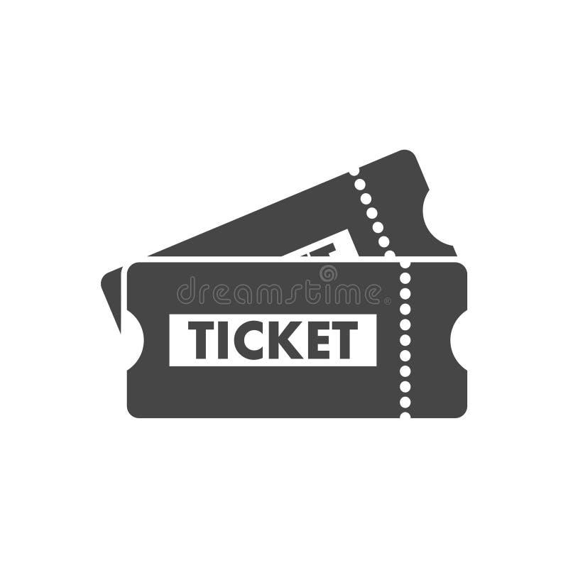 Biljettsymbol royaltyfri illustrationer