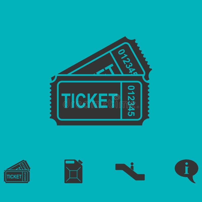 Biljettsymbolslägenhet royaltyfri illustrationer