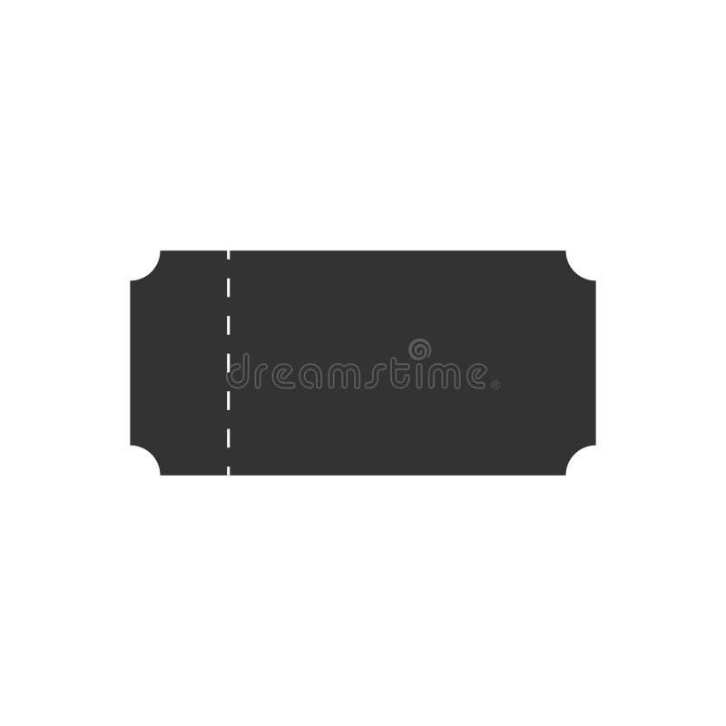 Biljettvektorsymbol stock illustrationer