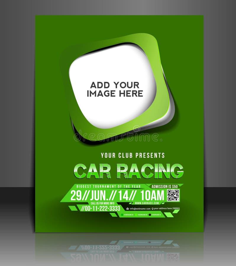 Bilkonkurrensreklamblad stock illustrationer