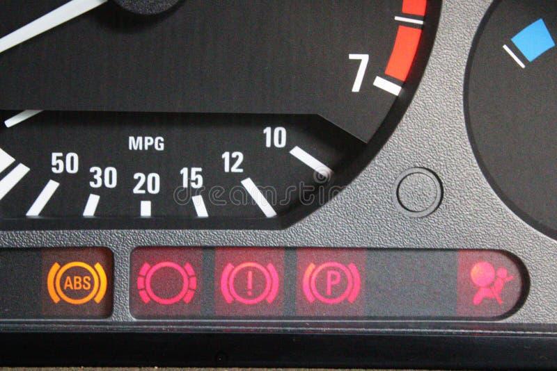 Bilkontrolllampor arkivfoton