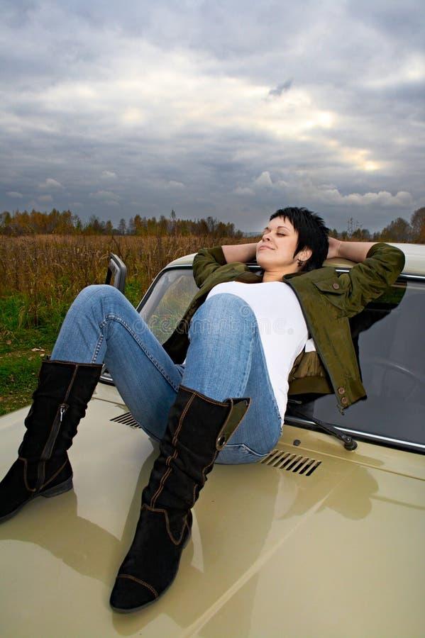 bilkvinna arkivfoto