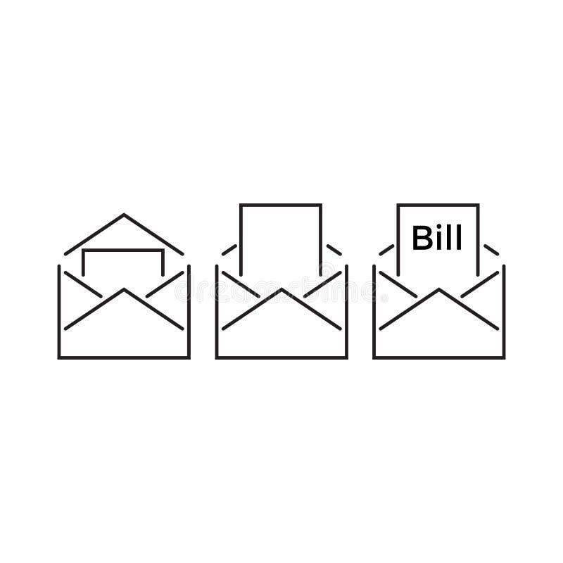 Bill μέσα σε έναν φάκελο απεικόνιση αποθεμάτων