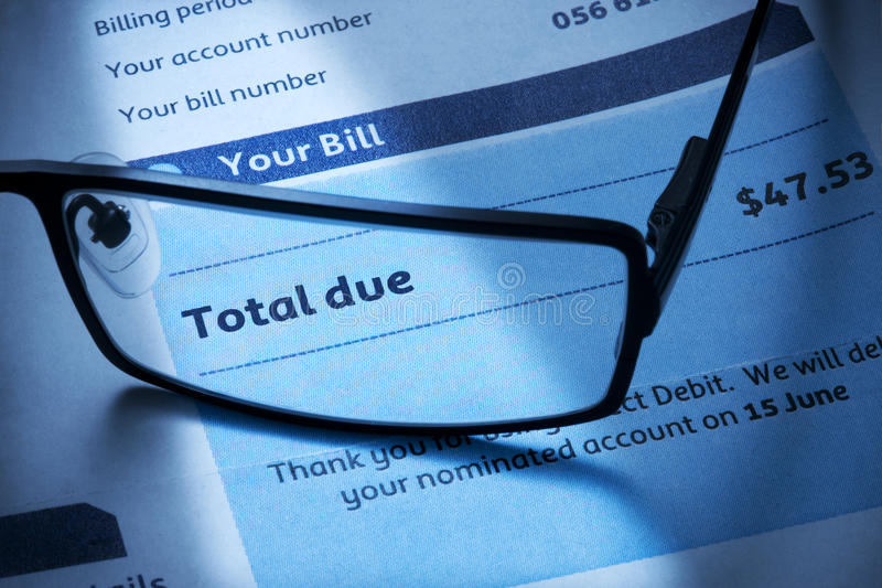 Bill Account Invoice Statement stock images