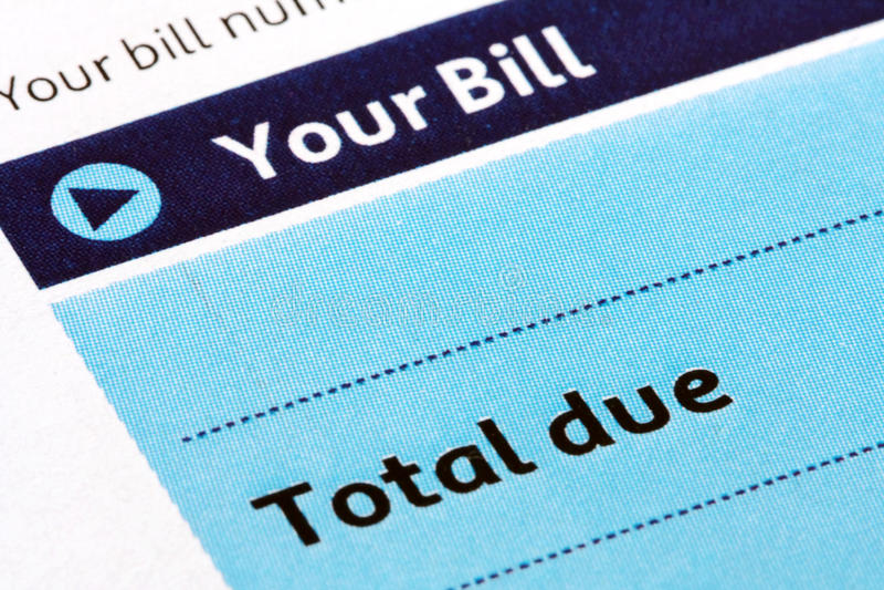 Bill-Anweisung-Nahaufnahme lizenzfreie stockbilder