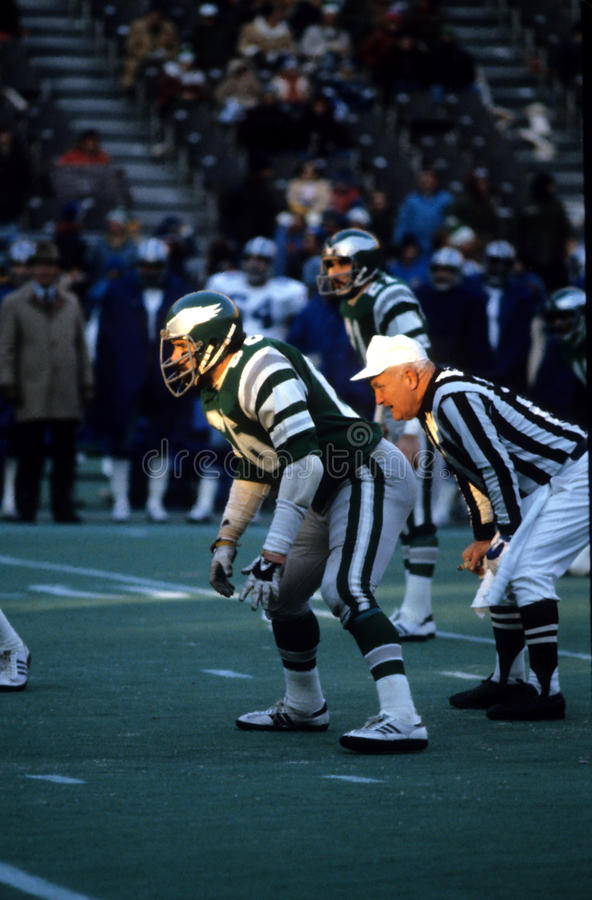 Bill Bergey Philadelphia Eagles royaltyfri foto