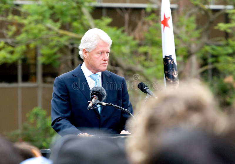 Bill Clinton 1 royalty-vrije stock fotografie
