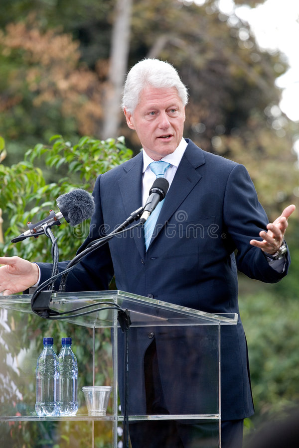 Bill Clinton 8 stock fotografie