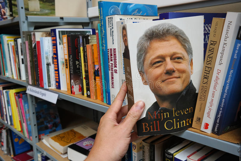 Bill Clinton-autobiografie stock fotografie