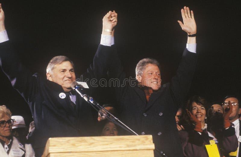 Bill Clinton bij een de campagneverzameling van New Mexico stock foto