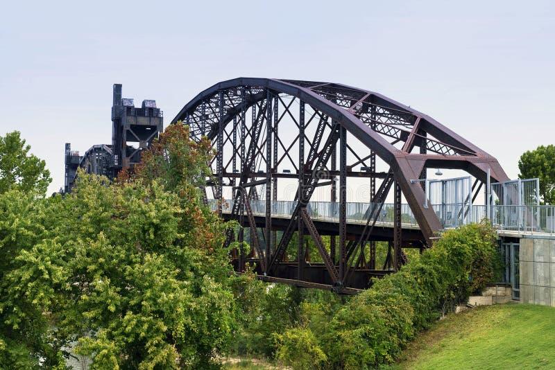 Bill Clinton Bridge. Bill Clinton truss bridge in Little Rock, Arkansas royalty free stock photos