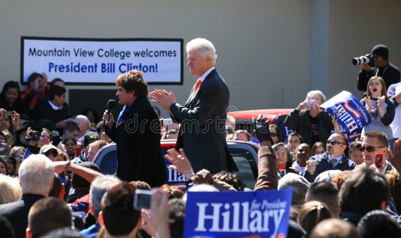 Bill Clinton in Dallas royalty free stock photo