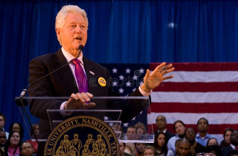 Bill Clinton dat toespraak geeft bij Universiteit Fisk royalty-vrije stock foto's