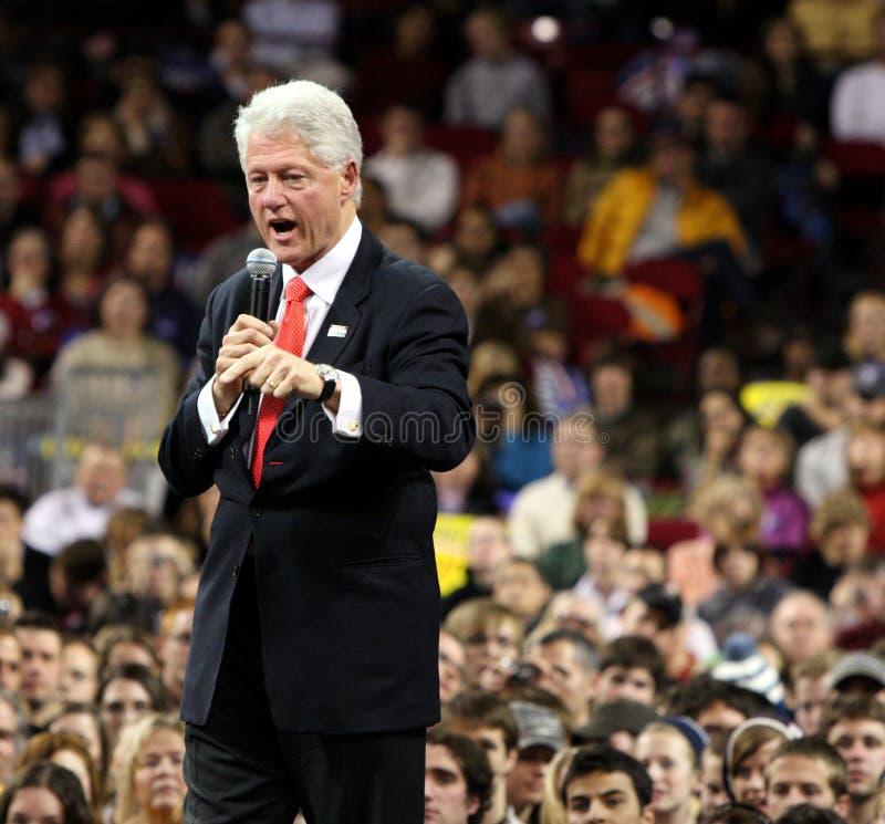 Bill Clinton pronunciar un discurso en Denver fotografía de archivo