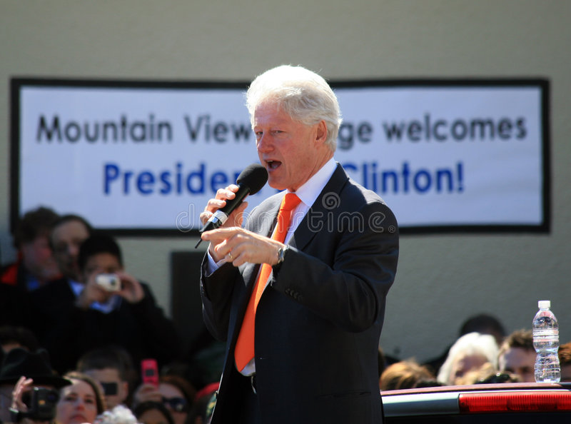 Bill Clinton Speaks in Dallas royalty free stock images