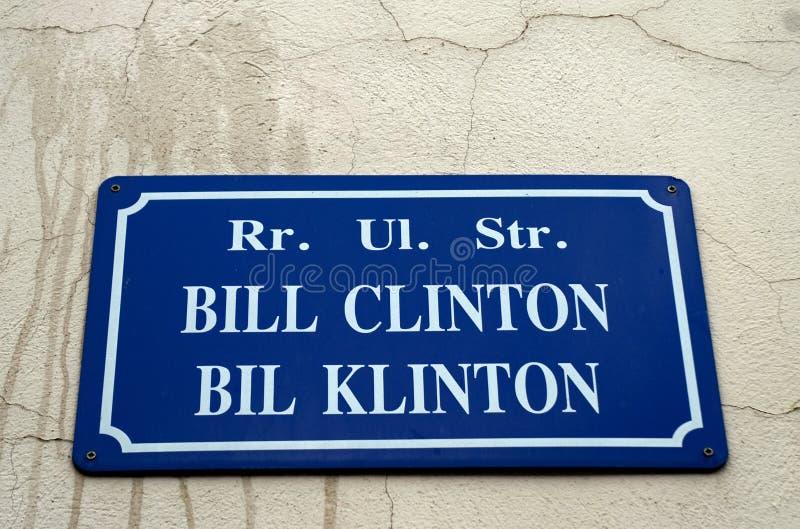 Bill Clinton Street, PEC, Kosovo image libre de droits