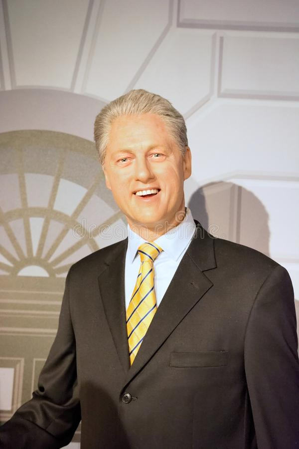 Bill Clinton Wax Figure foto de stock