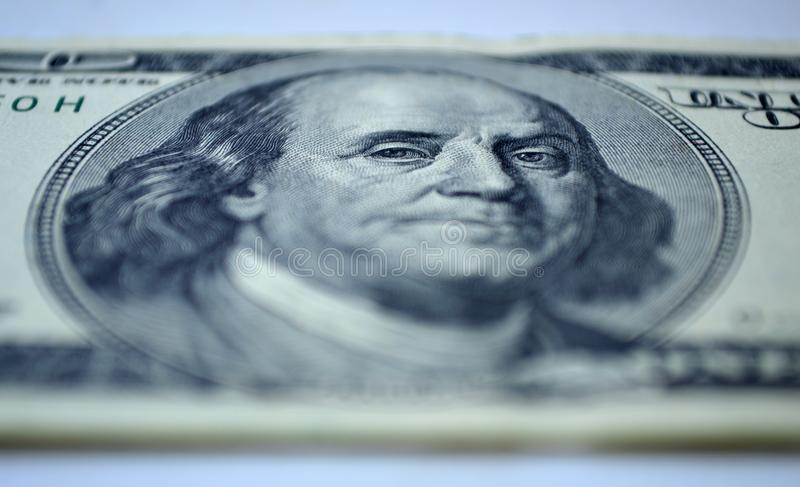 $ 100 bill of close-up royalty free stock images