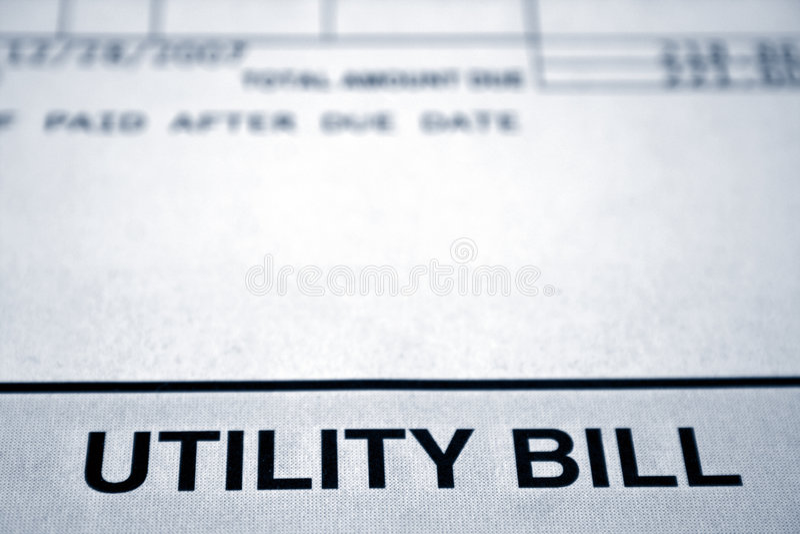 Bill de serviço público imagem de stock royalty free