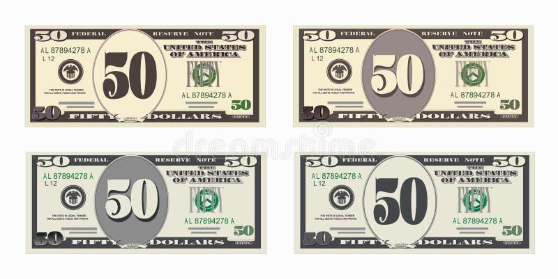 Bill 50 Dollar stock abbildung