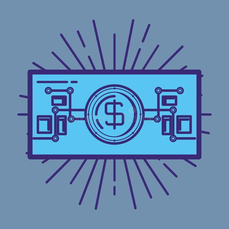 Bill dollar fintech icon. Vector illustration design vector illustration