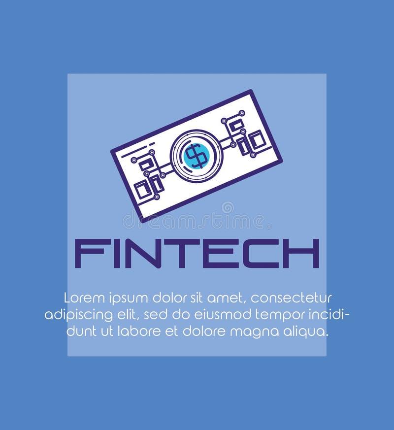 Bill dollar fintech icon. Vector illustration design stock illustration