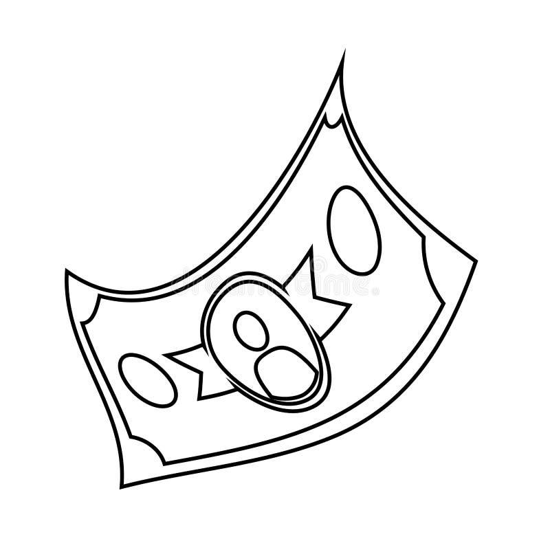 Bill dollar isolated icon. Vector illustration design vector illustration
