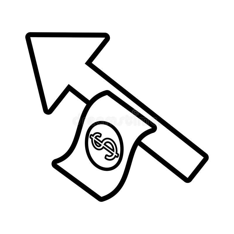 Bill dollar money with arrow up. Vector illustration design royalty free illustration