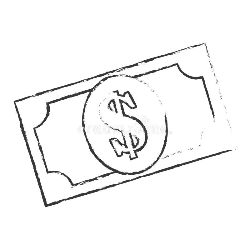 Bill dollar money icon. Vector illustration design stock illustration