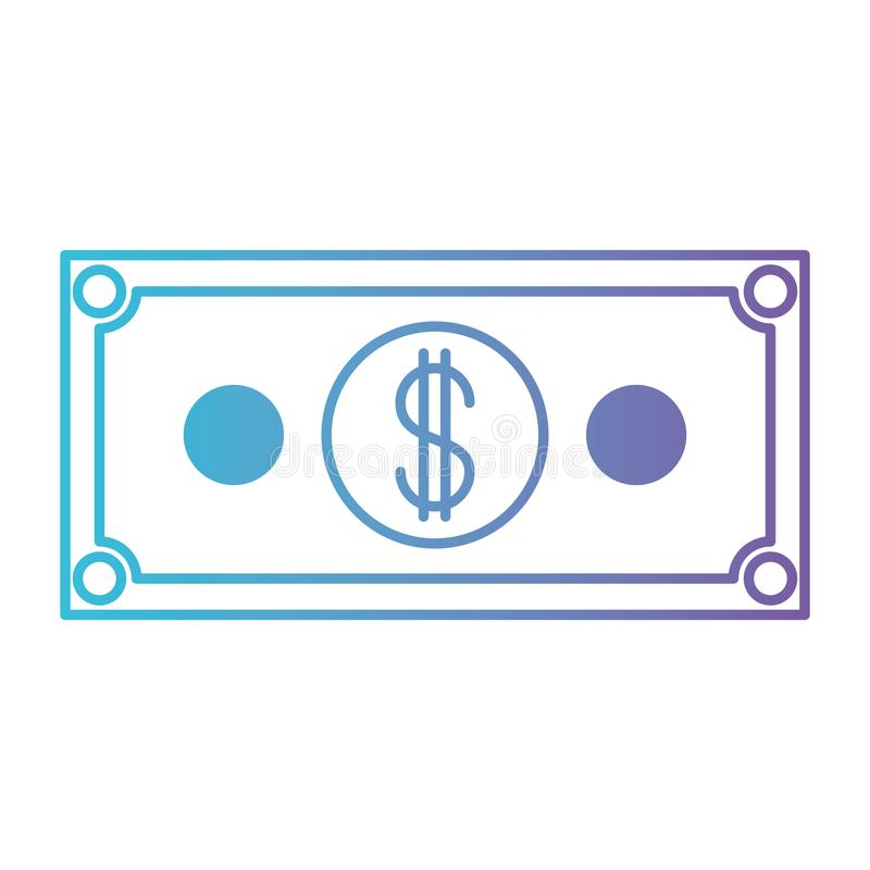 Bill dollar money icon stock illustration
