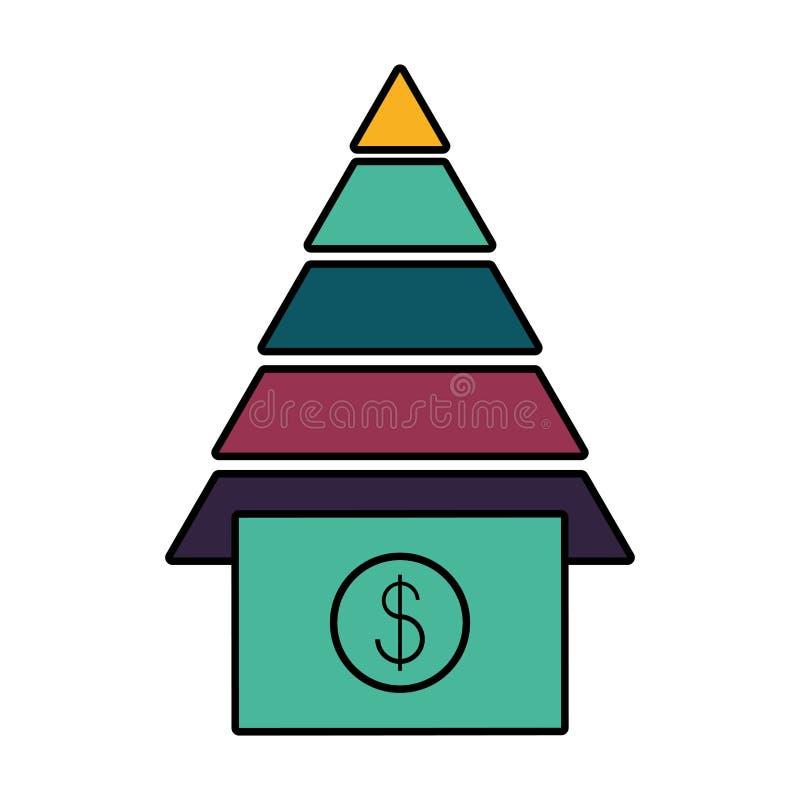 Bill dollar money with pyramid. Vector illustration design stock illustration