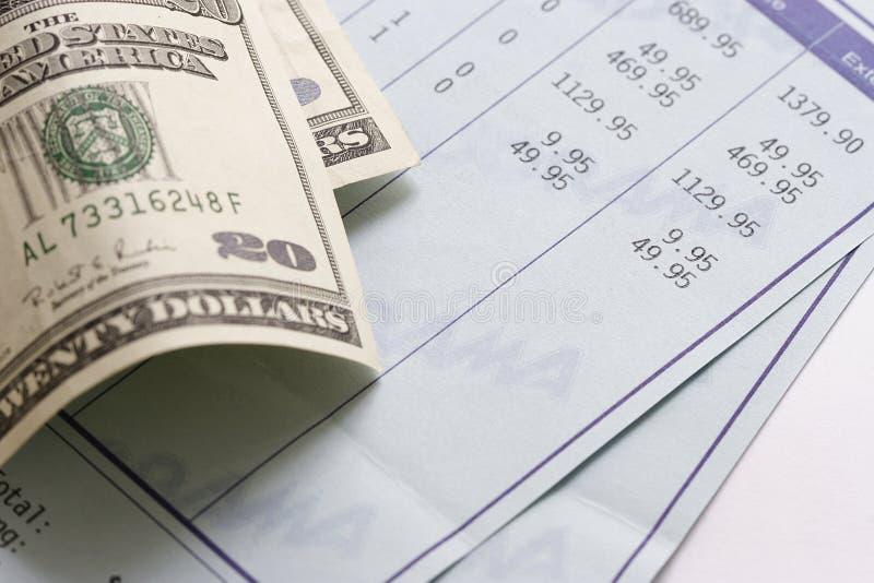 Bill e dólares imagem de stock royalty free