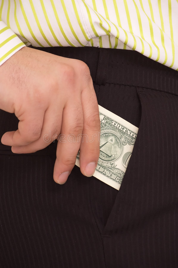 Bill en el bolsillo imagenes de archivo