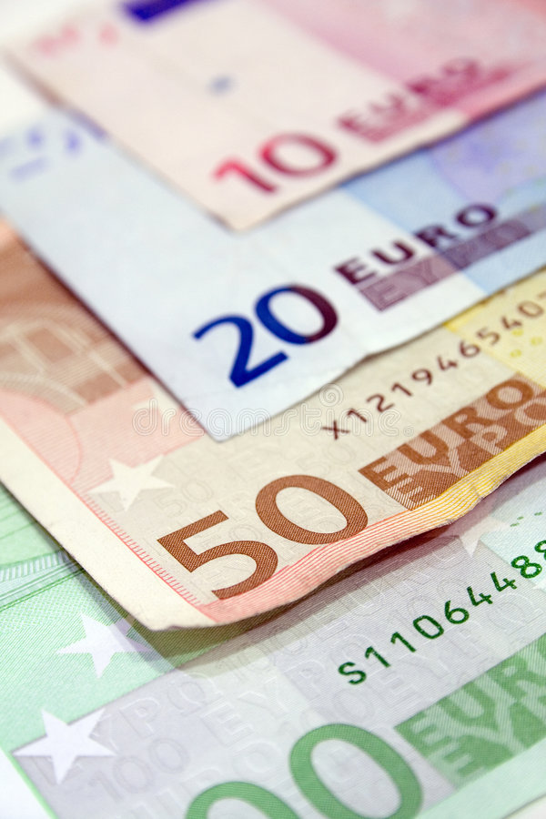 bill euro fotografia stock