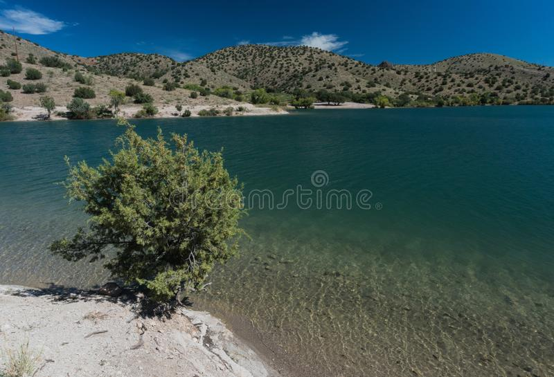 Bill Evans Lake-Ansicht in New Mexiko nahe silberner Stadt lizenzfreie stockfotografie
