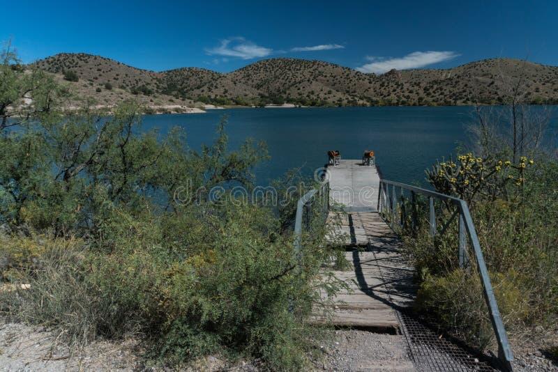 Bill Evans Lake-Dock im New Mexiko lizenzfreie stockfotografie