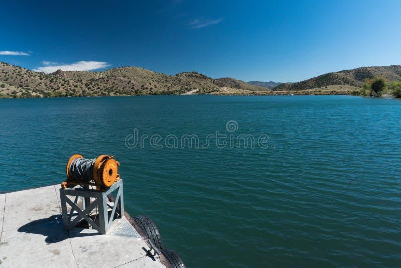 Bill Evans Lake-Dock nahe silberner Stadt im New Mexiko stockfotos