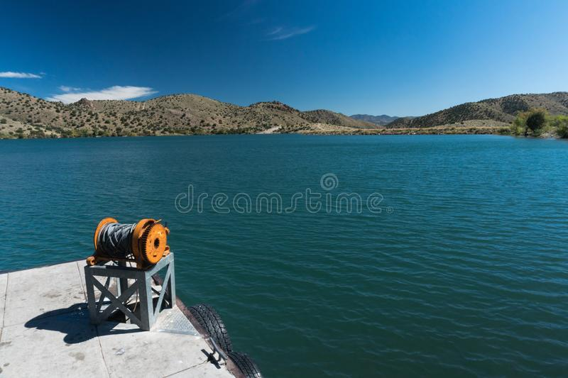 Bill Evans Lake dock near Silver City in New Mexico. One of the many scenic views of Bill Evans Lake in southwest New Mexico near Silver City. This one includes stock photos