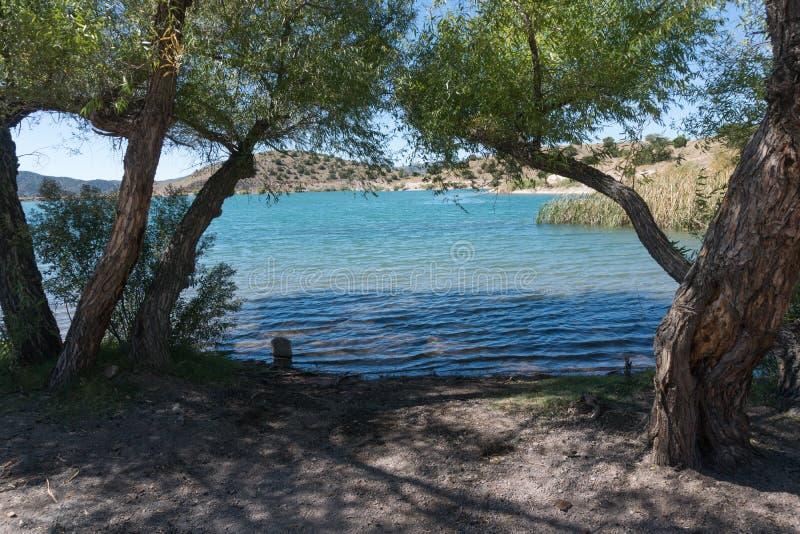 Bill Evans Lake im südlichen New Mexiko nahe der Stadt der silbernen Stadt lizenzfreies stockbild